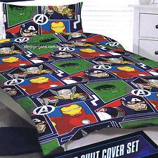 Avengers Thor Iron Man - panels - Single/US Twin Bed Quilt Doona Duvet Cover set