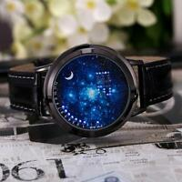 Digital LED Touch Screen Starry Moon Star Classic  Watch Women Men Couple KZ