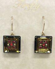 Firefly Fair Trade Jewelry Smoked Topaz La Dolce Vita Square Earrings 6633-ST