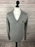 LYLE & SCOTT Jumper - Large - Grey - Wool - Great Condition - Men's