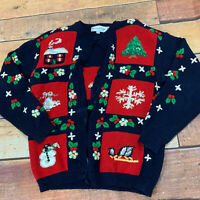 Christmas Holiday Ugly Sweater Cardigan Womens Small