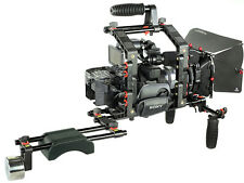Filmcity DSLR Video Camera Cage w Top Handle Shoulder Rig Matte Box Follow Focus