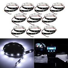4Pcs White Super Bright 15LED 30CM Car Motorcycle Grill Flexible Light Strip New