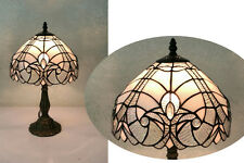 Silver Effect Tiffany Style Table Lamp