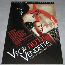"V FOR VENDETTA Original ISRAEL Movie Poster 2005 27""x38"" NATALIE PORTMAN"