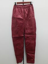 DIANE GILMAN DG2 FAUX LEATHER SKINNY JEGGING - Red/Wine  - S