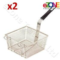 2 Frying Basket for Takeaway Restaurant Chip Fish Fryer Heavy Duty 200x200x100mm