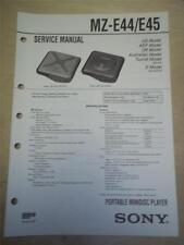 Sony Service Manual~MZ-E44/45 Minidisc Player~Original~Repair