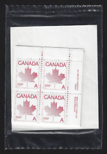 "Canada — Set of 4 Corner Blocks — 1981, Maple Leaf ""A"" Issue #907 — MNH"