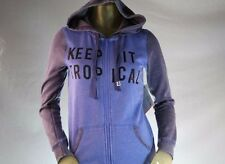 ROXY WOMAN'S BLUE & GRAY GRAPHIC ZIP-UP HOODED SWEATSHIRT/HOODIE Size Medium
