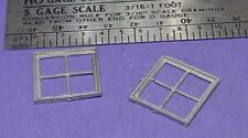 S SCALE Sn3 1/64 WISEMAN MODEL SERVICES DETAIL PARTS: S406 4 PANE WINDOW