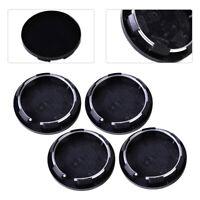 4 Noir 50mm Cache Moyeu Jante Centre Roue pour VW BMW Honda Mazda Toyota Ford FR