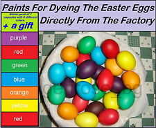 Colorful Paints For Dyeing Decorate The Easter Eggs+GIFT  **PRIORITY DELIVERY **