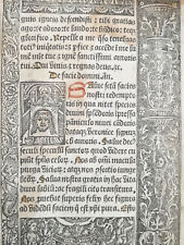 Book of Hours Leaf Vostre Horae Woodcut Veronica Michael Satan Paris 1501