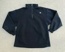 Russell Athletic Men's Vintage 90's R Logo 1/4 Zip Pullover Sweatshirt | Large