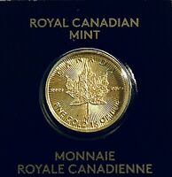 2020 Canada 1 Gram Gold Maple Leaf .999 Fine 50c Royal Canadian Mint - Nice!