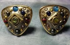 Vintage MICHAL GOLAN Clip On Earrings