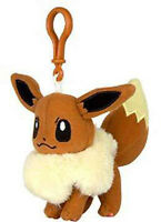 Pokemon 3'' Eevee Eevolution Plush Bag Clip Key Chain NEW
