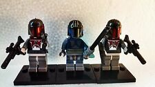 Star Clone Wars Pre Vizla & 2 Mandalorian Trooper Figures free Lego weapons