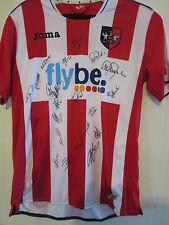 Exeter 2013-14 Squad Signed Home Football Shirt BNWOT ECFC letter coa /39535