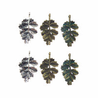 Mixed Colors Zinc Alloy Jewelry Crafts Mini Leaf Look Charms Pendant 15pcs 52624