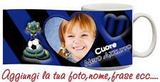 Tazza Inter Cuore Nerazzurro Personalizzata con nome,frase,foto ecc Idea Regalo