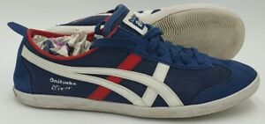 Asics Onitsuka Tiger Low Canvas/Suede Trainers D215Q Navy/White UK4/US5/EU37.5