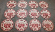 VINTAGE LOT OF 12 JOHNSON BROS OLD BRITAIN CASTLES BREAD PLATES 6 3/8""