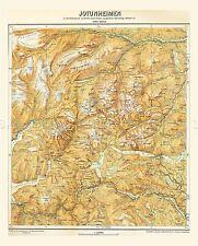 MAP ANTIQUE 1917 KROSS JOTUNHEIMEN PHYSICAL LARGE REPLICA POSTER PRINT PAM0438