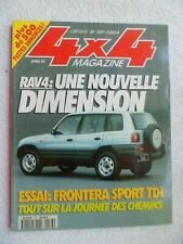 4X4 MAGAZINE N°163 04/1995 RAV4 SALON DE GENEVE FRONTERA SPORT TDI DISCOVERY RDS