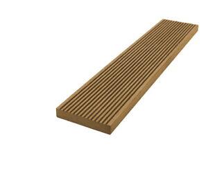MUSTER WPC Abschlussleiste Terrassendielen 150 mm teak braun Premium Qualität