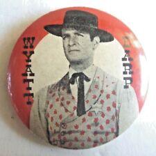 1960s TV COWBOY TIN PINBACK WYATT EARP LINDSAY'S LEICHHARDT BADGE AUSSIE ONLY NM