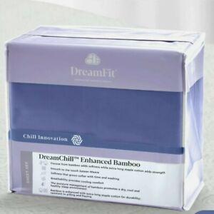 Dreamfit Dreamchill Enhanced Bamboo Sheet Set Blue Cal King New Free Shipping