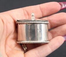 Miniature Antique .800 Continental Silver Trinket Pill Box No Reserve