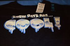 NWT CHILDREN'S PLACE Long Sleeve 'Snow Days are Cool' Tee in Black  XS