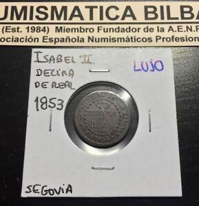 ISABEL II DECIMA DE REAL 1853 CECA DE SEGOVIA COBRE ESPAÑA Spain Moneda Coin