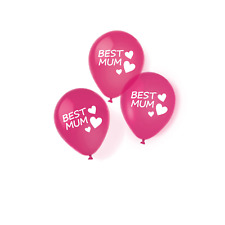 Luft-Ballons Statement-Balloon BEST MUM Muttertags-Deko /& Geschenk 12 Stück
