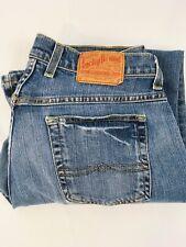 Women's Lucky Brand Easy Rider Wide Leg Blue Denim Jeans,  30 x 30 SKU 005