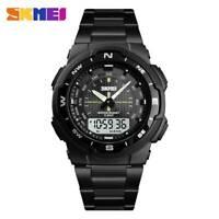 SKMEI Analog Men's Quartz Watch Stainless Steel Luxury Digital Sports Wristwatch