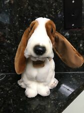 "Hush  Puppies Dog Basset Hound Vintage 10""  Plush Stuffed Animal"