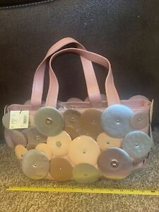 cole haan  leather pink and silver handbag NWT