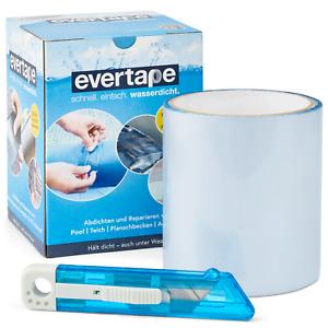 EVERFIX Evertape Reparatur Klebeband, Reparaturset, wasserdicht + Cuttermesser