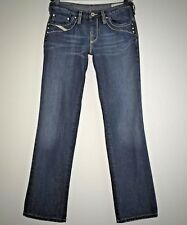 Diesel Womens Kycut Jeans 27 x 30 Straight Leg Cotton Blue Denim Five Pocket Zip