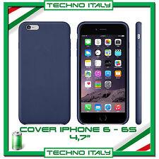 Custodia BACK Simil Pelle Cover Case Rigida BLU per Apple iPhone 6 6S 4.7
