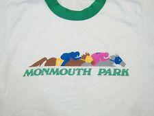 Vintage Monmouth Park Horse Jockey Derby Racing Gambling Ringer 90's T Shirt S