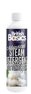 British Basics 500ml Steam Detergent Cotton Fresh Cleaner Kitchen Floors Carpets