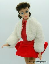 VINTAGE PONYTAIL NO 6 BRUNETTE BARBIE DOLL w/ ICE BREAKER #942 OUTFIT