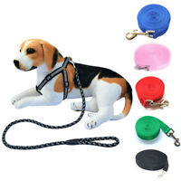 3/6/10/15/20M Pet Dog Leads Training Puppy Leash Collar Harness Long Strong Rope