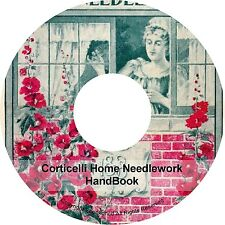 Embroidery Patterns Designs Home Needlework Silk Linen Book on CD