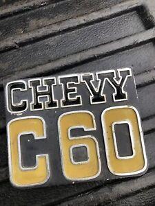1973-1980 Chevy truck C60 Fender Emblem gm oem